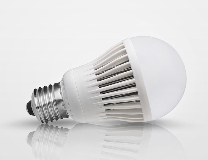 compact LED light bulb
