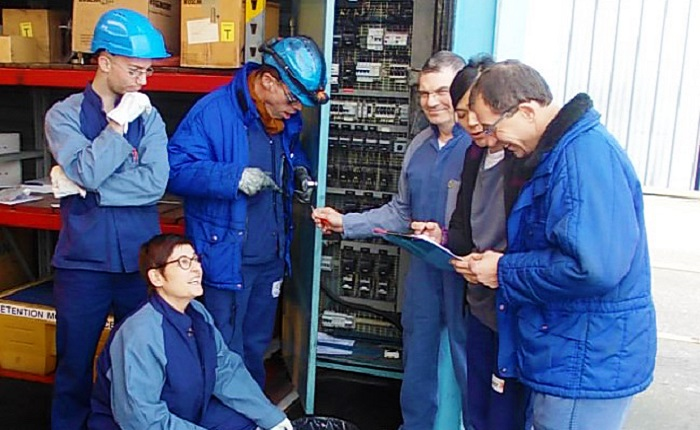 Port Jerome employees working